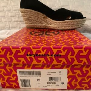 Peep toe Tory Burch Espadrille wedge sandals